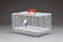 Standard Draagbare Katten Kooi/Mand (WIT) incl plastic tray