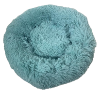 Fluffy donut mand Turquoise maat M