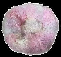 Fluffy donut mand bont gekleurd maat M
