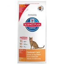 Hill's Adult Optimal Care Chicken Feline zak 10 kg