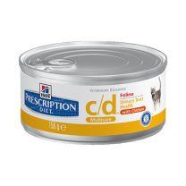 Hill's Prescription Diet c/d Feline Multicare Minced with Chicken blik 24 x 156 gram
