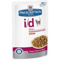 Hill's Prescription Diet i/d Feline (Chicken) 12X85 gr