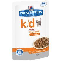 Hill's Prescription Diet k/d Feline with Chicken - Pouch maaltijdzakje 12 x 85 gram
