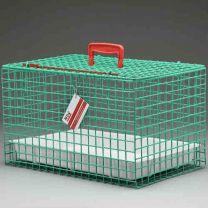 Standard Draagbare Katten Kooi/Mand (GROEN) incl plastic tray