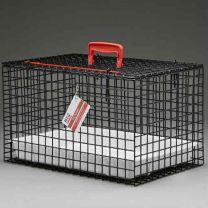 Standard Draagbare Katten Kooi/Mand (ZWART) incl plastic tray