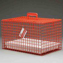 Standard Draagbare Katten Kooi/Mand ROOD incl plastic tray