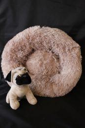 Fluffy donut mand Bruin maat S