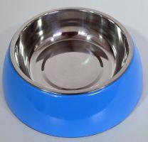 Hondendrink- / voerbak klein (16cm)-Donkerblauw