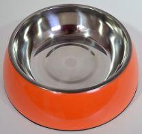 Hondendrink- / voerbak groot (21cm)-Oranje
