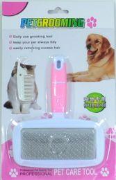 Borstel ( Roze ) voor Hond en Kat