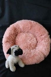 Fluffy donut mand Roze maat XS