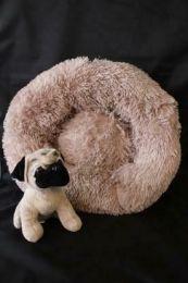 Fluffy donut mand Bruin maat XS