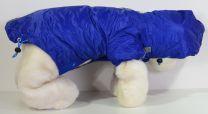 Honden Jas ( Regenjas ) Blauw met immitatiebont