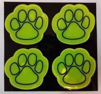 Reflecterende Stickers Hondenpoot 4 stuks